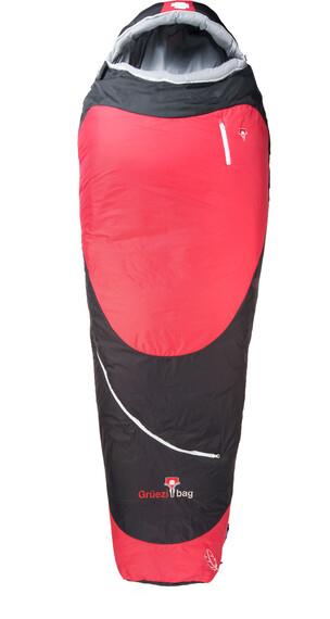 Grüezi-Bag Biopod Hybrid Wool/Down Sleeping Bag Black/Tango Red